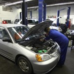 Searles Auto Repair - Upper Workshop Picture Working on Engine of Honda Civic